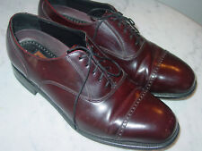 Florsheim LEXINGTON Mens Burgundy Leather 17067-05 Cap Toe Oxford Shoes! Size 9D