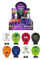 HALLOWEEN BALLOON HEADS SPOOKY STICKER CRAFT CHILDREN KIDS TOY PARTY BAG FILLERS