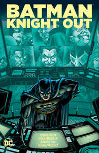 BATMAN: KNIGHT OUT hardcover collection. Signed by Chuck Dixon