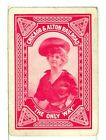 """Single Vintage Old Wide Railroad Playing Card """"Chicago & Alton RR"""" C&A 2a Red"""