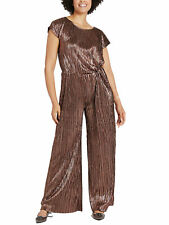 NEW M&S BRONZE  GOLD PARTY EVENING  JUMPSUIT SIZES 20 22