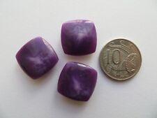 1960s Vintage Sm Square Mottled Purple MOD Dress Jacket Cape Buttons-20mm