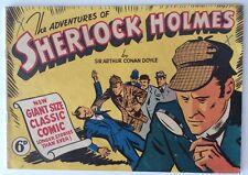 CLASSIC COMIC SHERLOCK HOLMES AUSTRALIAN B&W HI GRADE CLASSICS ILLUSTRATED 1940s