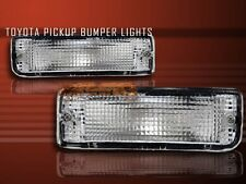 1989-1995 TOYOTA PICKUP / 1990-1991 4RUNNER CLEAR BUMPER SIGNAL LIGHTS LAMPS