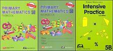Primary Mathematics 5B SET -- Textbook, Workbook, & Intensive Practice NEW