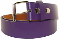 New! Purple Leather Belt Golf Baseball Bonded Golfer Accessory Sports Casual