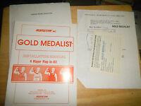 GOLD MEDALIST KIT    arcade  video game manual