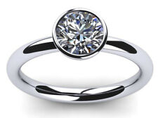 Moissanite Diamond Solitaire 925 Silver Ring 2.22 Ct vvs1>Round Ice Off White