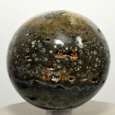 "2.4"" Ocean Jasper Sphere Natural Orbicular Orbs Druzy Crystal Stone - Madagascar"