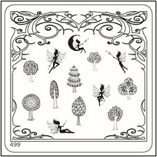 MoYou Nail Fashion Stamping Nail Art Image Plate 499 Fairy Tale Style Trees