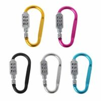 Travel D Shape Combination Lock Bag Anti-theft Camping Hang Carabiner Buckle