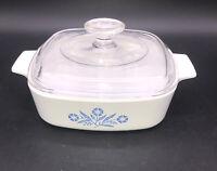 Corning Ware Corelle Cornflower Blue 1 Qt Lidded Pyrex Baking Dish A-1-B