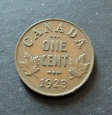 1923 KEY DATE CANADA SMALL 1 CENT COIN, CIRCULATED VERY FINE CONDITION, LOT#5