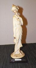 """Vintage Giuseppe Armani Art Deco Woman Figure 1987 11"""" Tall"""