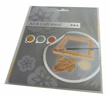 Imitation Metal Leaf - 25 Sheets 16x16cm - gold, silver, copper ideal for crafts