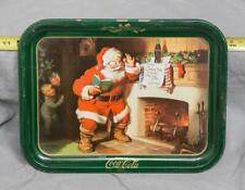 Vintage Coca-Cola Coke Santa Claus Christmas Serving Tray g30
