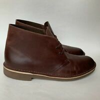 Clarks Bushacre 2 Chukka Boots Brown Leather Ankle Men's Size 9 M