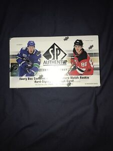 2019/20 UPPER DECK SP AUTHENTIC HOCKEY HOBBY BOX  NEW/SEALED