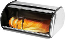 Imperial Home Brushed Stainless Steel Roll Top Large Bread Box  2 Loaf Capacity