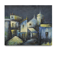 NY Art - Impressionist Church at Night 20x24 Original Oil Painting - On Sale!