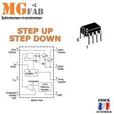 Régulateur MC34063 DC 1,5A DIP8 Boost step up ou buck step down | Arduino PIC