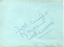 MARGARET LOCKWOOD, BEN WARRIS + 1 - Signed Album Page - FILM - THE WICKED LADY