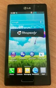 LG Optimus L9 MS769 - 4GB - Black (MetroPCS) Smartphone - Works Great