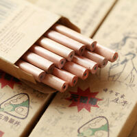 5Pcs Wooden Vintage Triangle Pencils Drawing Pen Office Student Stationery