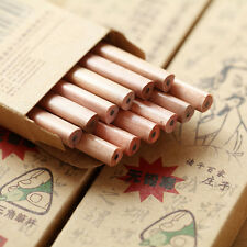 5Pcs Wooden Vintage Triangle Pencils Drawing Pen Office Student Stationery Gift