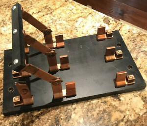 Antique Knife Switch Three Circuit Copper and Wood