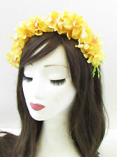 Yellow Trailing Wisteria Flower Headband Headpiece Headpiece Fascinator Vtg 962
