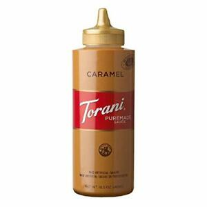 Torani Puremade Caramel Sauce, 16.5 Ounces 1.03 Pound (Pack of 1)