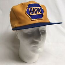 New listing Vtg Napa Car Parts Patch Snapback Yellow Blue Hat Cap Louisville Mfg Co Usa 80s