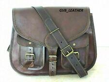 Real Leather Vintage Handbag Shoulder Satchel Messenger Bag Women Outing Genuin