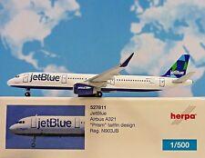 Jetblue Airbus A321 Prism Tailfin Design Aereo in metallo 527811 Modellino Herpa