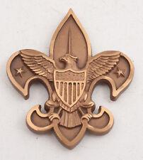 Solid Brass BSA Fleur De Lis Radiator Badge Boy Scouts Eagle (E3L)