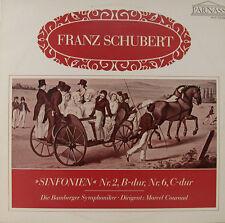 "FRANZ SCHUBERT SINFONIEN NR. 2 B-DUR NR. 6 C-DUR MARCEL COURAUD 12"" LP (h690)"