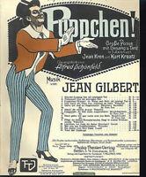 """"""" Puppchen, Du bist mein Augenstern ! """" von Jean Gilbert, übergroße, alte Noten"""