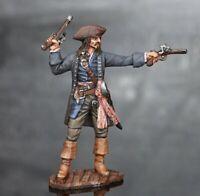 bemalt Zinnfigur Johnny Depp als Darsteller Captain Jack Sparrows, Größe 54mm.