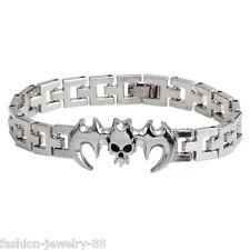 Charm Infinity Men Stainless Steel Batman Watchband Bracelet Wristband Bangle