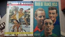 MIROIR SPRINT + BUT ET CLUB 5 Numeros TOUR DE FRANCE 1953 Cyclisme Biking