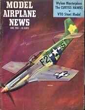 Model Airplane News Magazine June 1955 Mustang GD 042017nonjhe