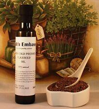 Fresh prensado en frío linaza, aceite de linaza 250ml-salud Embajada
