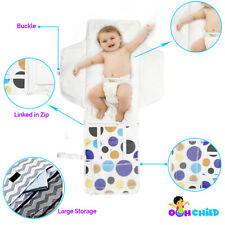 Ooh Child- Portable Diaper Changing Station with Zippered Pockets/Head Cushion