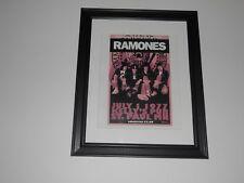 """Framed Ramones Handbill 7/1/77 St Paul, Mn Johnny, Joey, Tommy, Dee Dee 14""""x17"""""""
