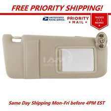 NEW Sun Visor RIGHT TAN Passenger Side for 07-11 Toyota Camry WITHOUT SUNROOF