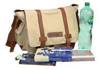 FFelsenfest Canvas Vintage Messenger Tasche Bürotasche Überschlagtasche offwhite