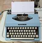VTG+Royal+Jet+Portable+Typewriter+Powder+Blue+Turquoise+with+Cover+Clean+WORKS%21