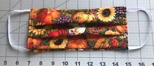 Fall Thanksgiving 100% Cotton Face Masks Nose Wire Filter Pocket Handmade In USA