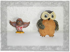 Lot de 2 Aimants Magnets Hibou Chouette Résine Neufs